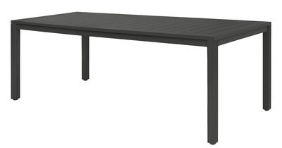 Table Neptune / Plateau lattes aluminium - 210 x 100 cm - Vlaemynck anthracite en métal