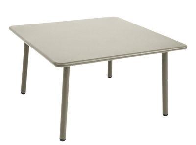 Arredamento - Tavolini  - Tavolino basso Darwin / 70 x 70 cm - Emu - Grigio - Acciaio verniciato