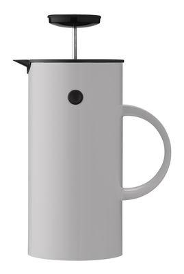 Théière à piston Classic / 8 tasses - Stelton gris clair en matière plastique