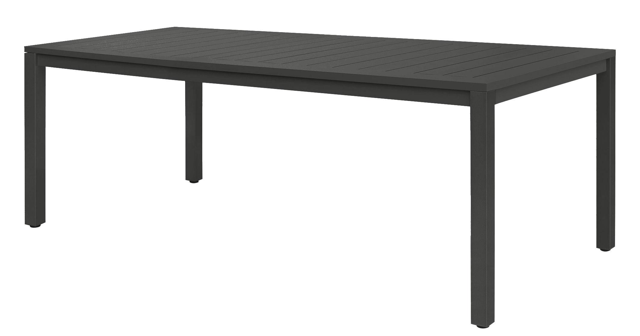 Outdoor - Tische - Neptune Tisch / Tischplatte aus Aluminium-Latten - 210 x 100 cm - Vlaemynck - Anthrazit - lackiertes Aluminium