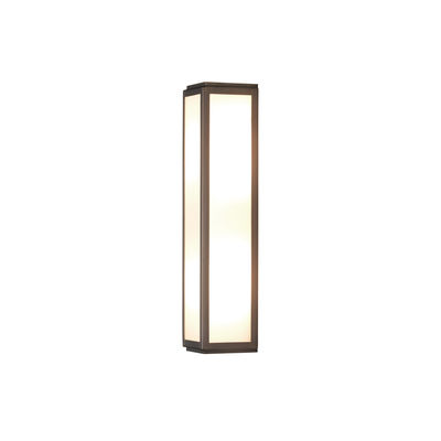 Lighting - Wall Lights - Mashiko LED Wall light - / L 35 cm - Polycarbonate by Astro Lighting - Bronze - Polycarbonate, Stainless steel