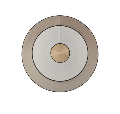Cymbal LED Wandleuchte / Medium - Ø 50 cm - Stoff - Forestier - Eiche natur,Beige, natur