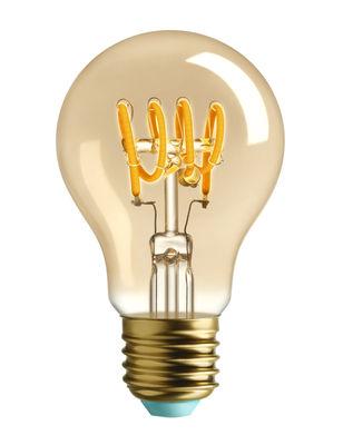 Luminaire - Ampoules et accessoires - Ampoule LED filaments E27 Whirly Wanda / 4W (15W) - 140 Lumen - Plumen - Doré - Verre