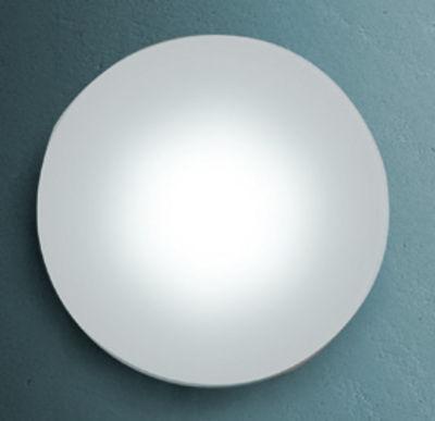 Applique Sole /Plafonnier - 144 LED - Rond - Fontana Arte blanc en verre