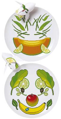 Cuisine - La cuisine s'amuse - Assiette Surface 02 - Y'mie 1 / lot de 2 - Ø 26,5 cm - Domestic - Y'mie 1 - Porcelaine