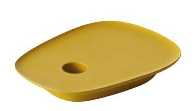 Déco - Bougeoirs, photophores - Bougeoir Float / Fonte d'aluminium - Muuto - Jaune - Fonte d'aluminium
