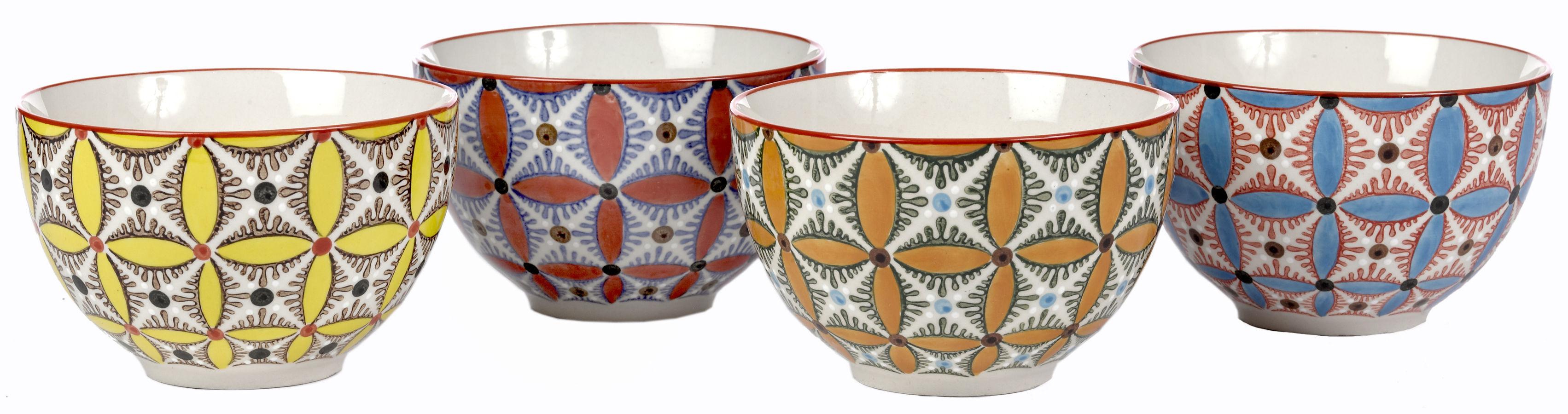 Tableware - Bowls - Hippy Bowl - Set of 4 by Pols Potten - Multicolored - Céramique vitrifiée