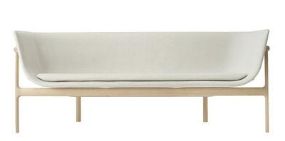 Canapé droit Tailor Tissu L 180 cm Menu blanc,bois naturel en tissu
