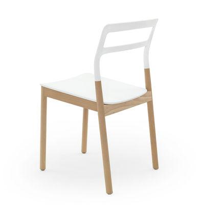 chaise empilable florinda bois et plastique de padova