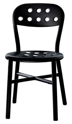 Mobilier - Chaises, fauteuils de salle à manger - Chaise empilable Pipe / Métal - Magis - Noir - Acier verni, Aluminium verni