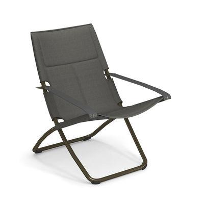 Chaise longue Snooze Cosy / Tissu maille - Pliable - 2 positions - Emu gris en tissu