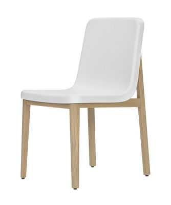 Mobilier - Chaises, fauteuils de salle à manger - Chaise Sedan / Chêne & plastique - ClassiCon - Blanc / Chêne - Chêne massif, Polyuréthane