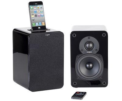 St-Valentin - Pour Lui - Enceinte Bluetooth EVO E4i / Set 2 enceintes avec dock iPod/iPhone - Tangent - Noir - MDF