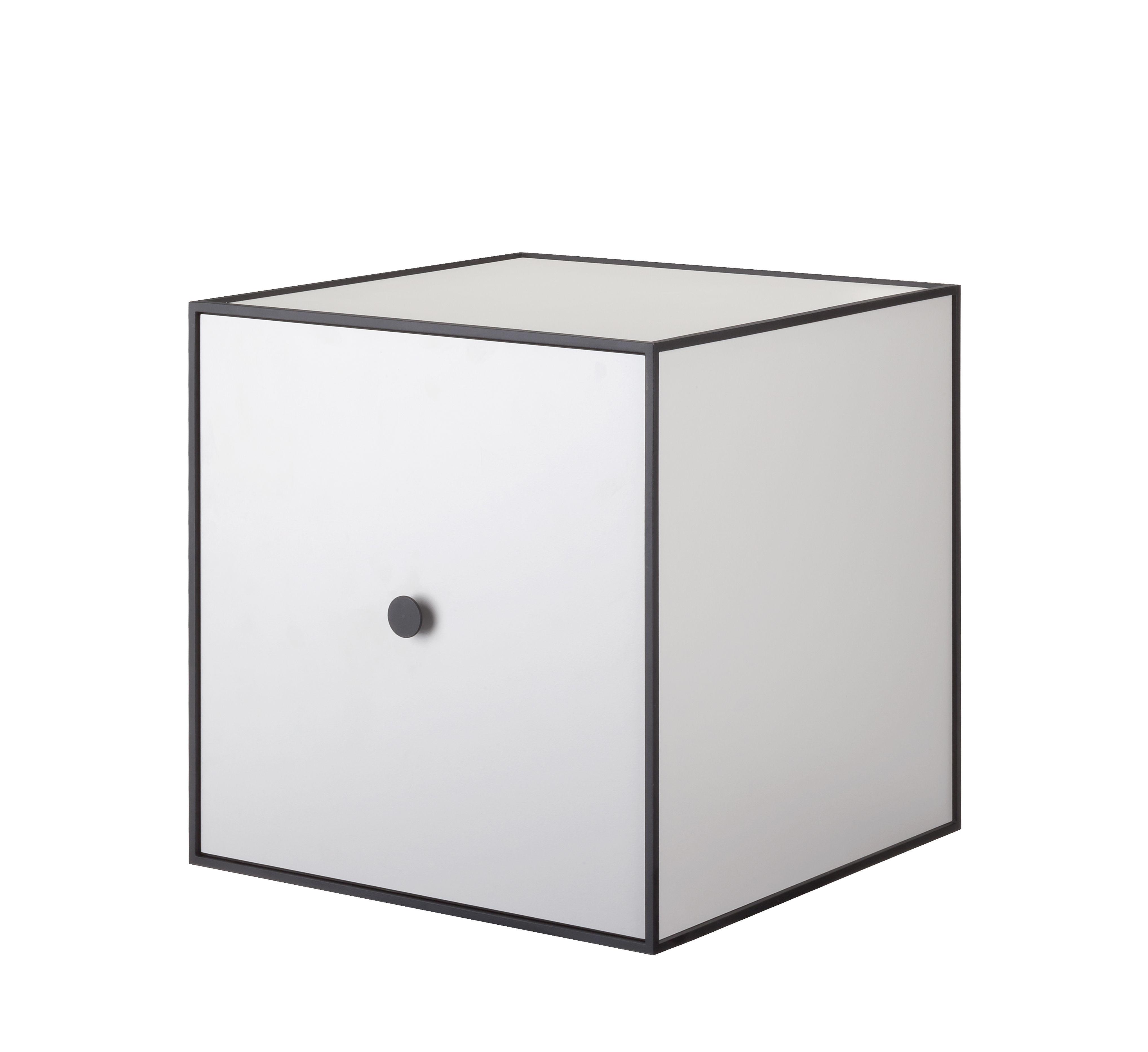 Mobilier - Etagères & bibliothèques - Etagère Frame / Boîte - 35x35 cm - by Lassen - Gris clair - Mélamine, Métal laqué époxy