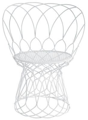 Mobilier - Chaises, fauteuils de salle à manger - Fauteuil Re-trouvé Small / Métal - Emu - Blanc - Acier