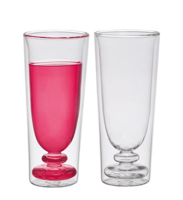 Tavola - Bicchieri  - Flûte da champagne Cocktail - / Set da 2 di Bitossi Home - Trasparente - vetro soffiato