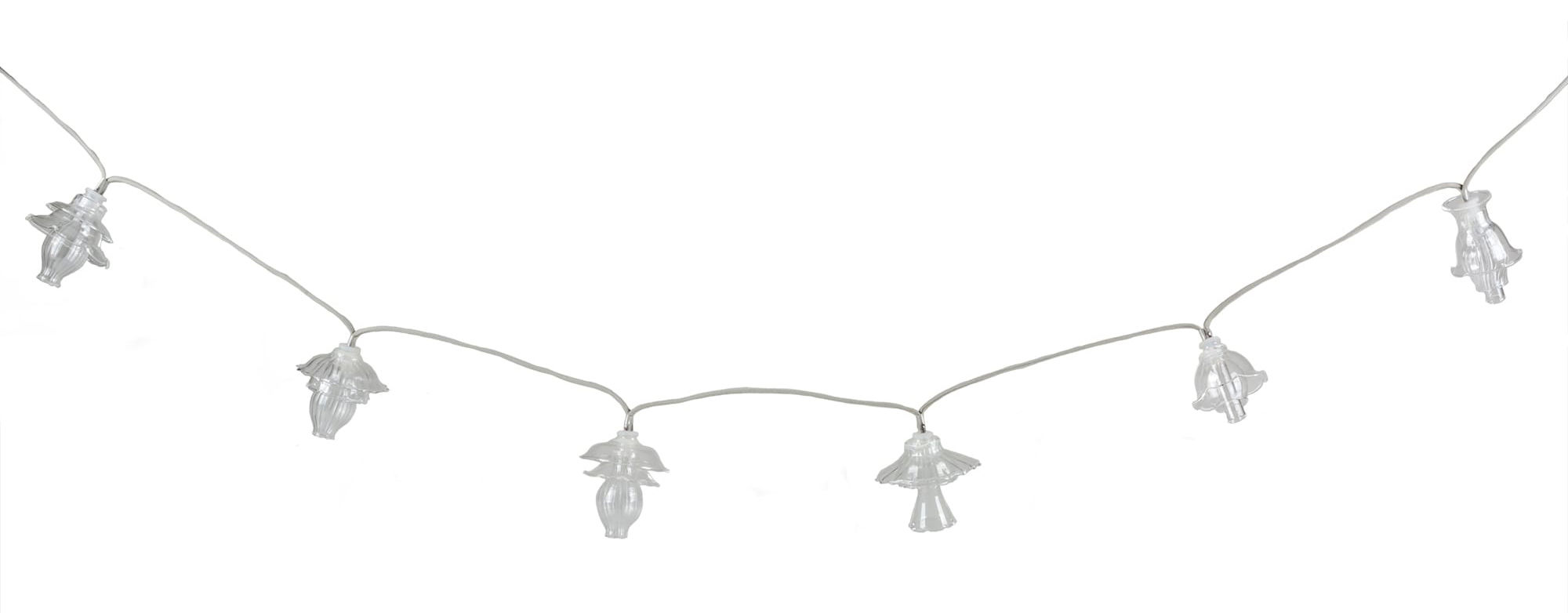 Luminaire - Mobilier et objets lumineux - Guirlande lumineuse Floralia / LED - 12 abat-jours verre - L 420 cm - Seletti - Transparent - Verre soufflé