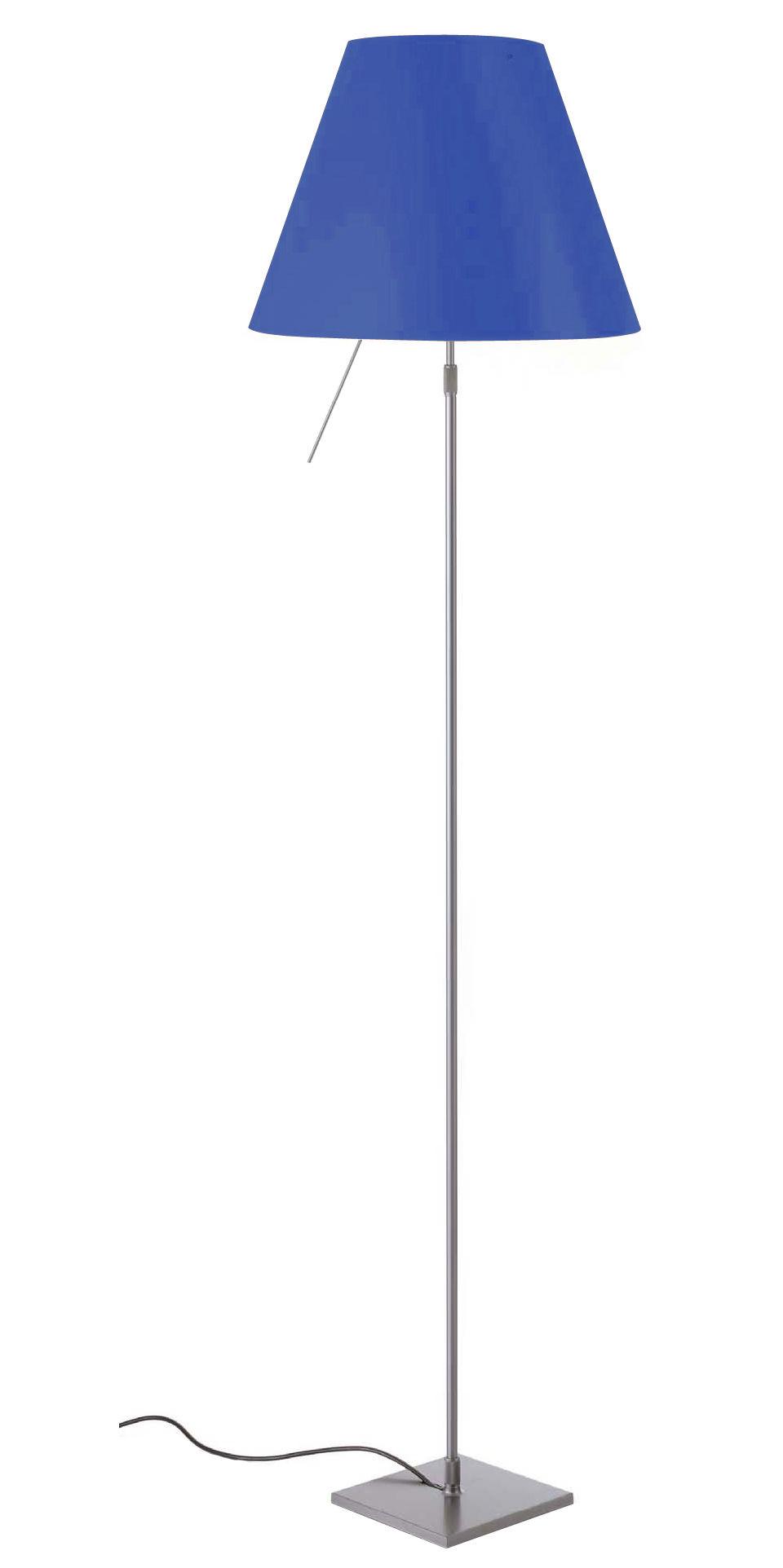 Illuminazione - Lampade da terra - Lampada a stelo Costanza di Luceplan - Blu - alluminio verniciato, policarbonato