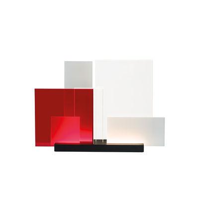 Luminaire - Lampes de table - Lampe de table On lines LED / Modulable - Nemo - Transparent, satiné & rouge - Aluminium, Méthacrylate
