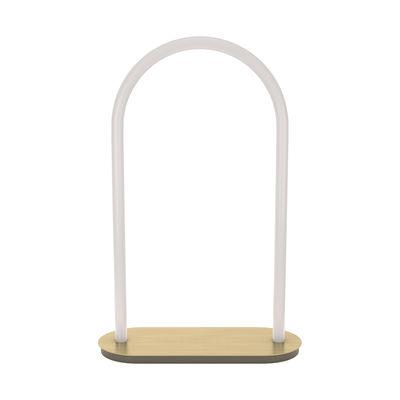 Luminaire - Lampes de table - Lampe de table Unseen LED / Large - H 60 cm - Petite Friture - H 60 cm / Blanc & laiton - Laiton, Polycarbonate
