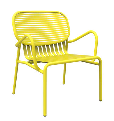 Furniture - Armchairs - Week-end Low armchair - Aluminium by Petite Friture - Yellow - Powder coated epoxy aluminium