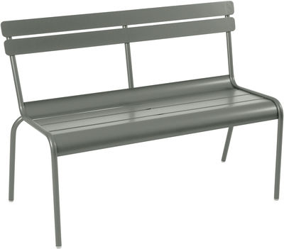 Arredamento - Panchine - Panca con schienale Luxembourg / 2-3 posti - L 118 cm - Métal - Fermob - Rosmarino - Alluminio laccato