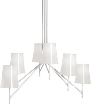 Birdie Pendelleuchte 9 Arme - feste Höhe - Foscarini - Weiß