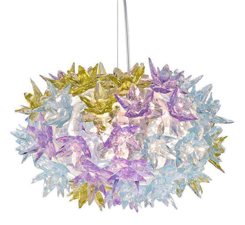 Leuchten - Pendelleuchten - Bloom Bouquet Pendelleuchte runder Strauß - Small - Ø 28 cm x H 19 cm - Kartell - Lavendel - Polykarbonat