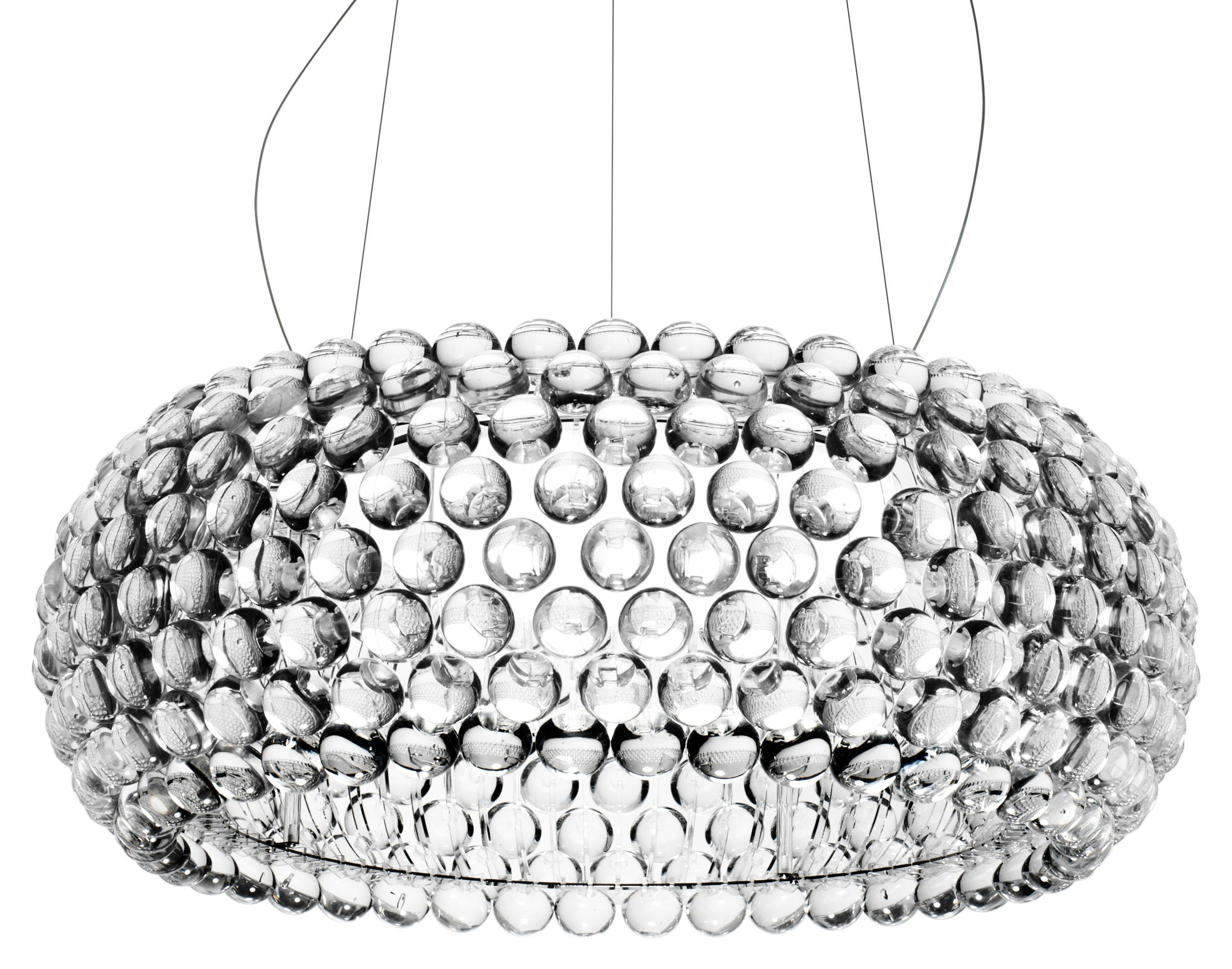 Leuchten - Pendelleuchten - Caboche Grande Pendelleuchte LED / Ø 70 cm - Foscarini - Transparent - Glas, Metall, PMMA
