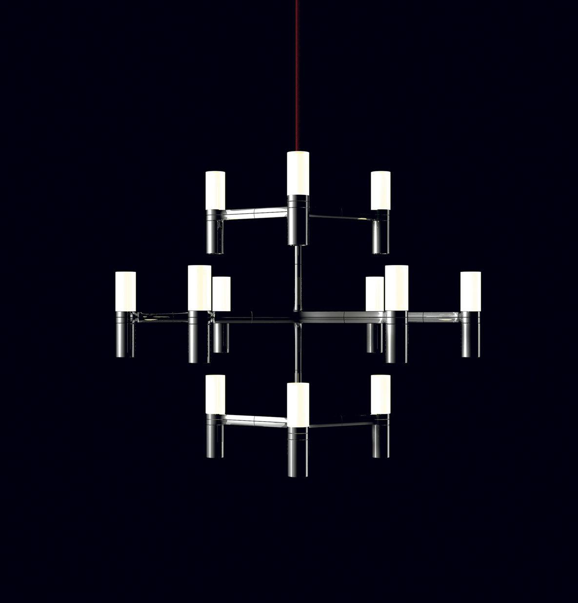 Leuchten - Pendelleuchten - Crown Minor Pendelleuchte / Ø 77 cm - Nemo - Aluminium - Aluminium, Opalglas