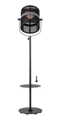 Illuminazione - Lampade da terra - Piano/vassoio - / Per lampada Paris - Ø 35 cm di Maiori - Vassoio / Nero - Alluminio dipinto