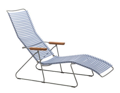 Outdoor - Sun Loungers & Hammocks - Click Reclining chair - Multiposition backrest by Houe - Pigeon Blue - Bamboo, Metal, Plastic