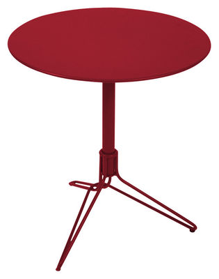 Outdoor - Garden Tables - Flower Round table by Fermob - Chili - Steel