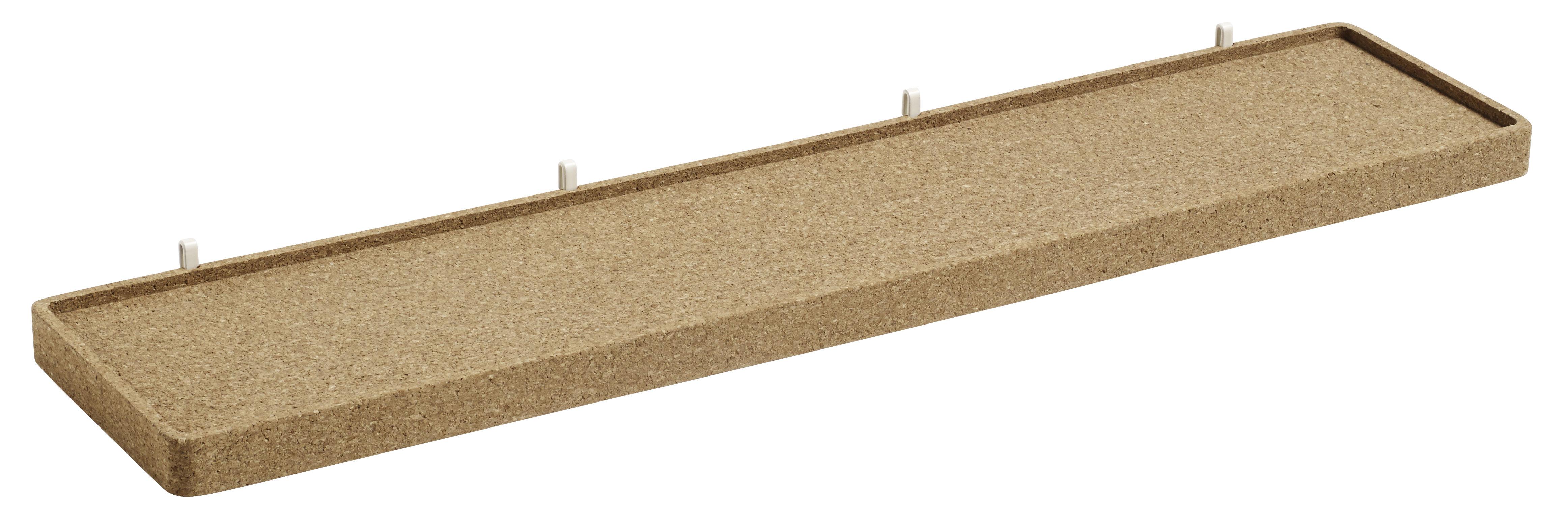 Interni - Contenitori e Cesti - Mensola Large Sughero / L 67 cm - Per pannello Pinorama - Hay - Sughero - Acciaio verniciato