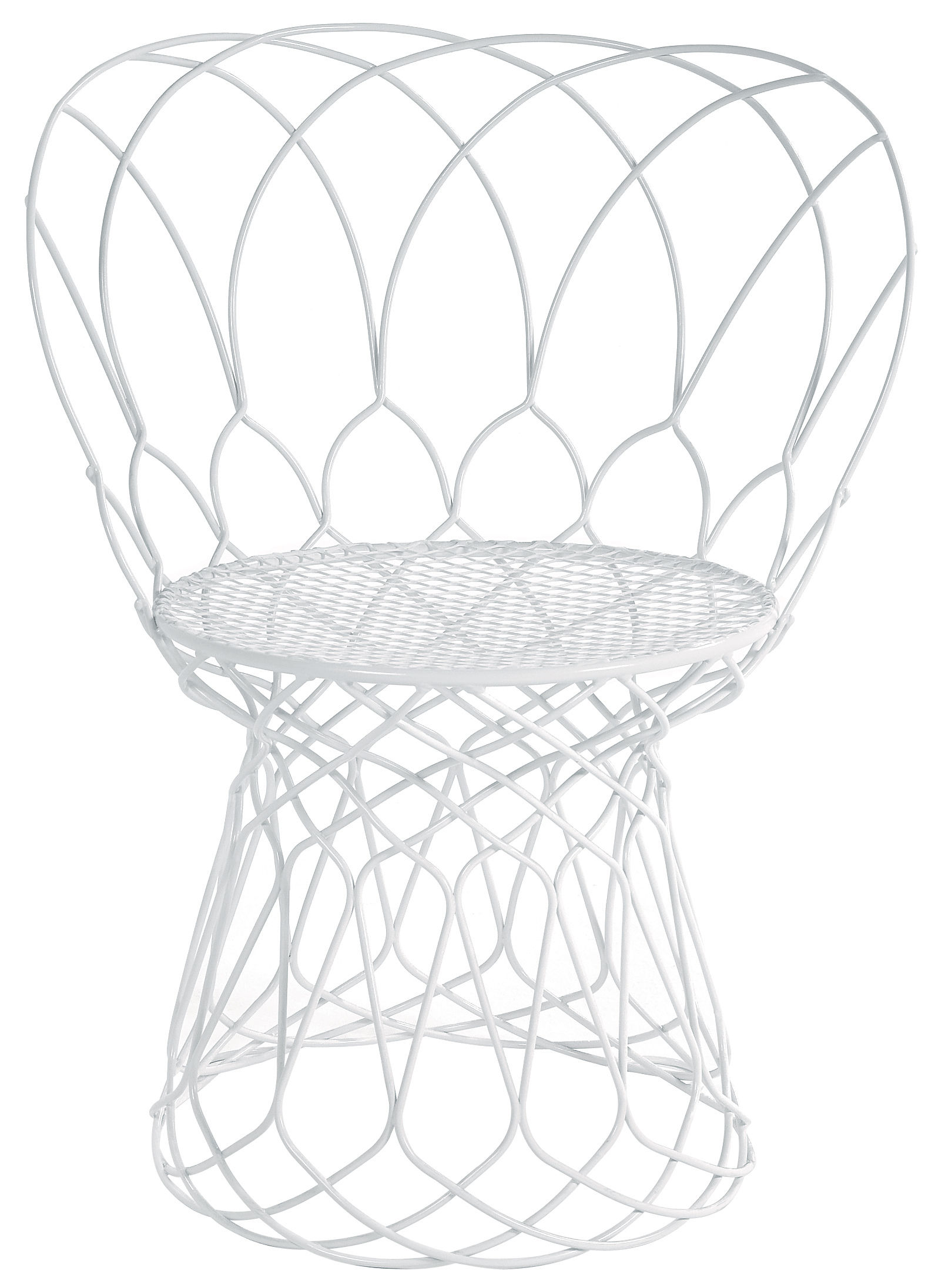 Möbel - Stühle  - Re-trouvé Sessel klein - Emu - Weiß - Stahl
