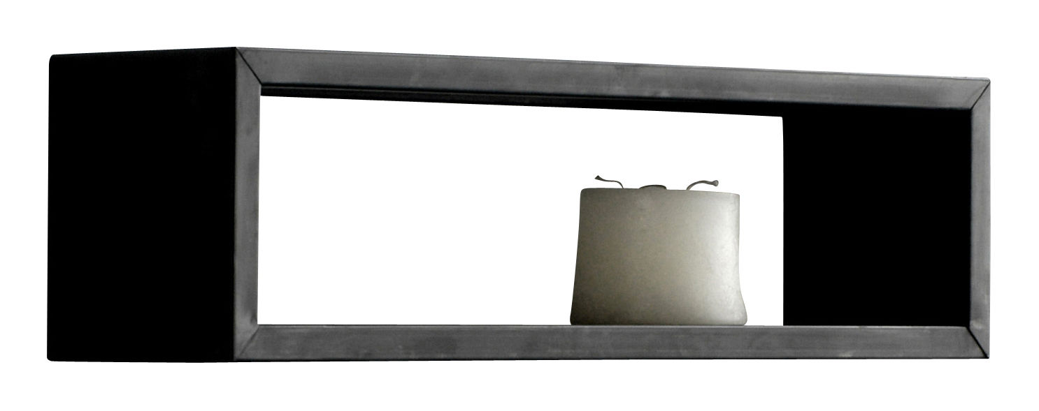 Furniture - Bookcases & Bookshelves - Irony Wall rack Shelf by Zeus - 100 x 25 cm - Phosphated steel