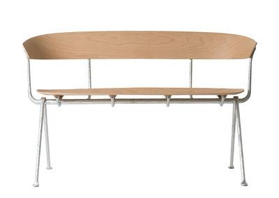 Möbel - Bänke - Officina Sitzbank / Holz - L 125 cm - Magis - Buche natur / Gestell verzinkt - Buchenfurnier, Schmiedearbeit