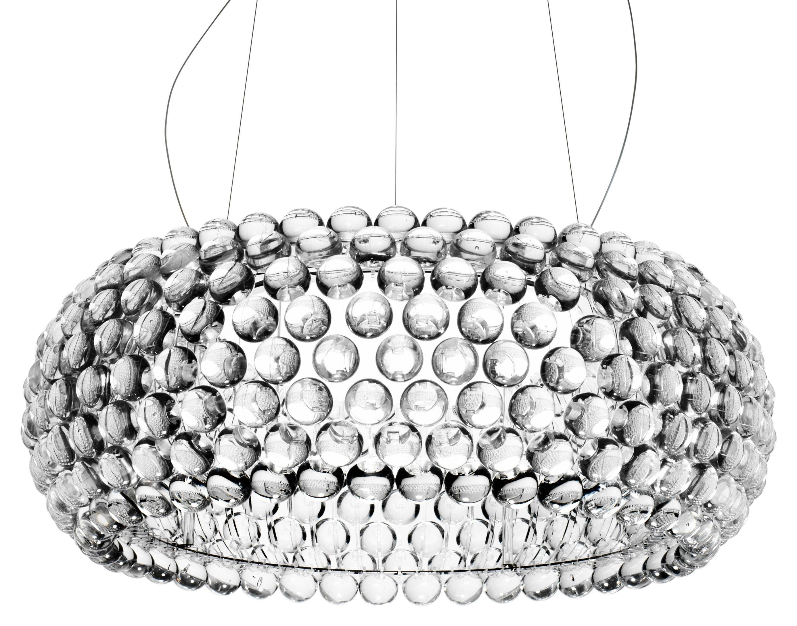 Illuminazione - Lampadari - Sospensione Caboche Grande - LED / Ø 70 cm di Foscarini - Trasparente - Metallo, PMMA, Vetro