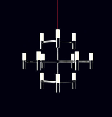 Illuminazione - Lampadari - Sospensione Crown Minor - Ø 87 cm di Nemo - Ø 87 cm - Alluminio - Alluminio, Vetro opalino