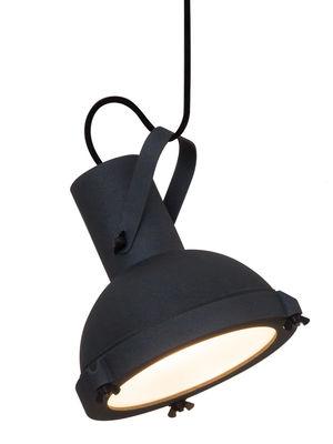 Illuminazione - Lampadari - Sospensione Projecteur 165 - by Le Corbusier / Riedizione 1954 di Nemo - Antracite-blu scuro - alluminio verniciato, Vetro opalino