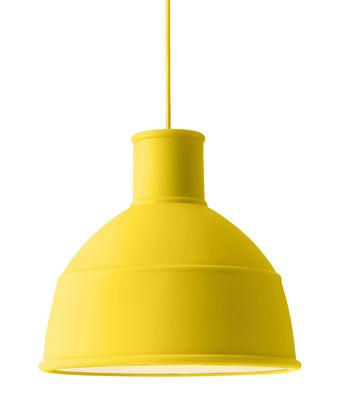 Illuminazione - Lampadari - Sospensione Unfold di Muuto - Giallo - Silicone