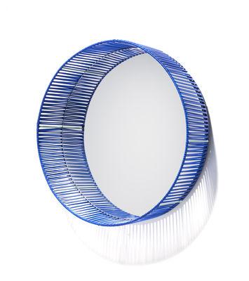 Image of Specchio Cesta - Rotondo / Ø 49 cm di ames - Blu - Materiale plastico