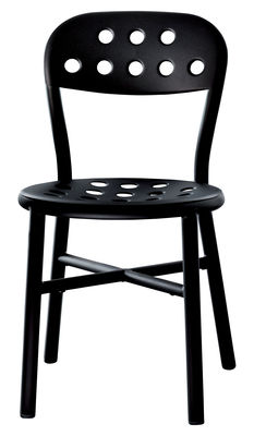 Furniture - Chairs - Pipe Stacking chair - Metal by Magis - Black - Varnished aluminium, Varnished steel