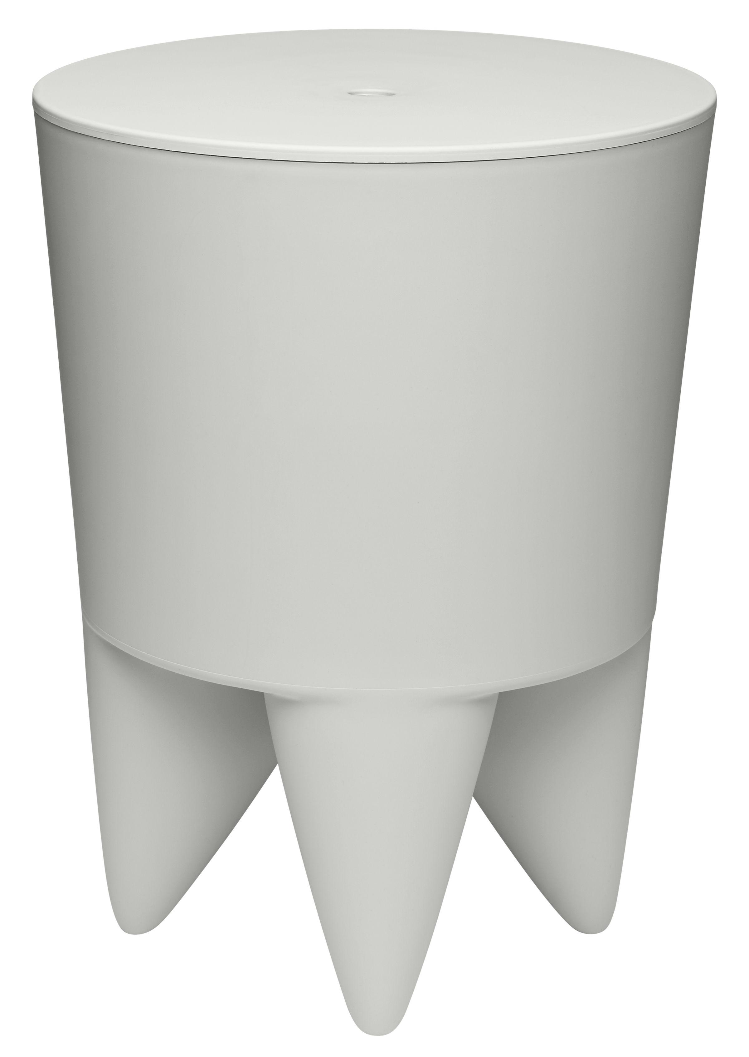 Furniture - Stools - New Bubu 1er Stool - / Box - Plastic by XO - Pale Grey - Polypropylene