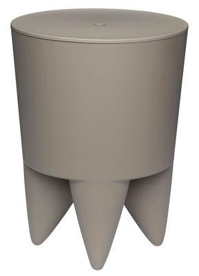 Furniture - Stools - New Bubu 1er Stool by XO - Taupe grey - Polypropylene