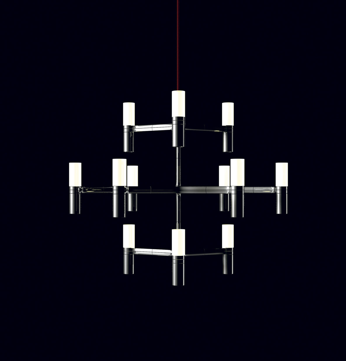 Luminaire - Suspensions - Suspension Crown Minor / Ø 77 cm - Nemo - Aluminium - Aluminium, Verre opalin