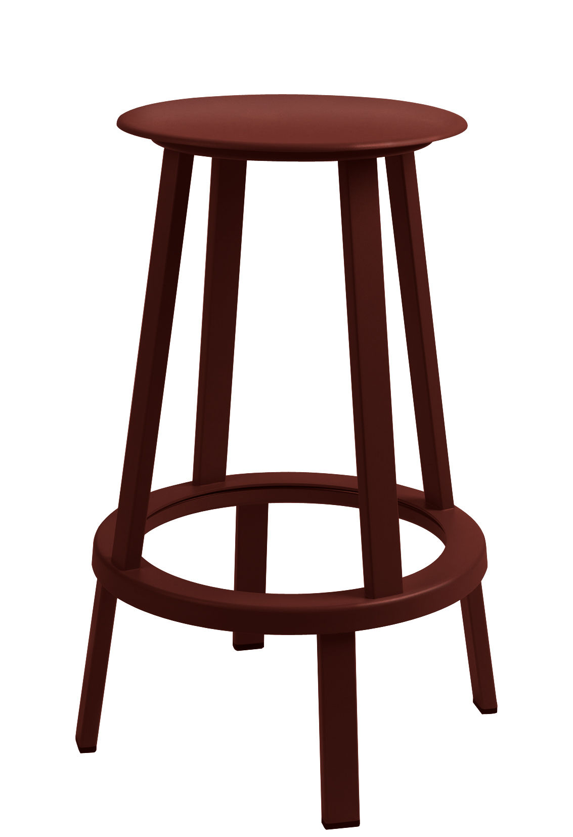 Furniture - Bar Stools - Revolver Swivel bar stool - H 65 cm - Metal by Hay - Red - Steel xith epowy paint