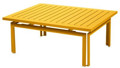 Table basse Costa / Aluminium - 100 x 80 cm - Fermob miel en métal