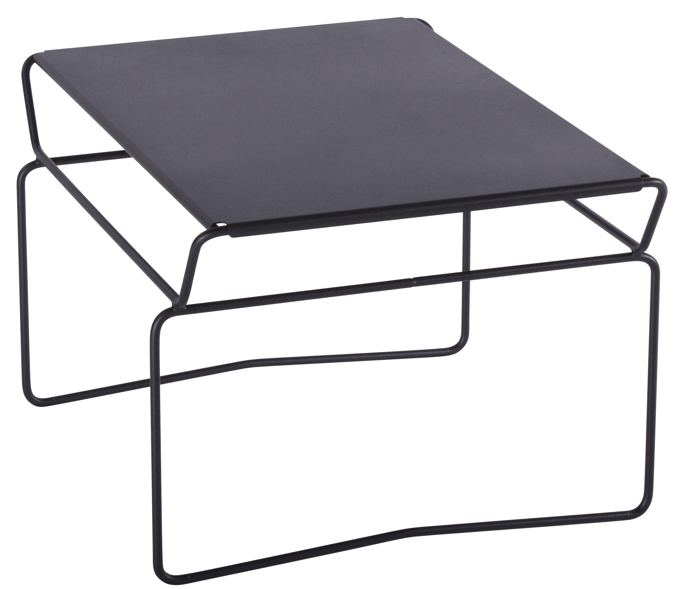 Mobilier - Tables basses - Table basse Fil Master / 65 x 53 cm - AA-New Design - Plateau Noir / Structure Noire - Acier laqué époxy
