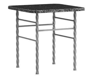 Table basse Terra Small / 40 x 40 x H 42 cm - Terrazzo - Normann Copenhagen gris en pierre